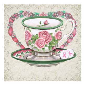 Fiesta del té dulce de la cinta rosada - SRF Invitacion Personal