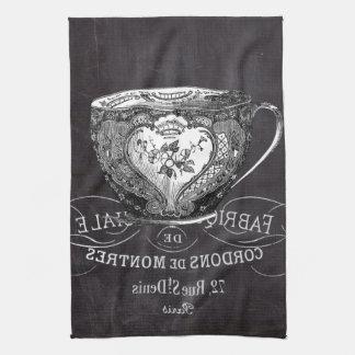 fiesta del té elegante lamentable de la pizarra de toallas de mano
