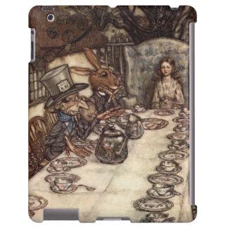 Fiesta del té enojada Arturo Rackham del sombrerer Funda Para iPad