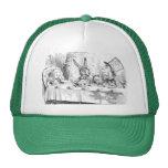 Fiesta del té enojada del sombrerero gorras