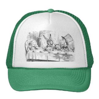Fiesta del té enojada del sombrerero gorros bordados