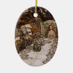 Fiesta del té enojada del sombrerero por el orname ornamentos para reyes magos