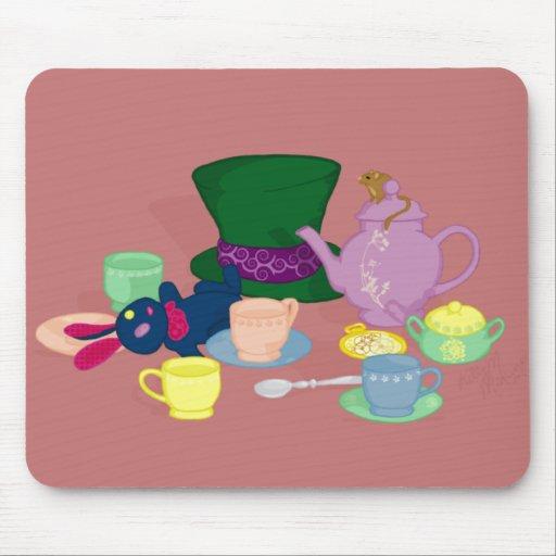 Fiesta del té enojada Mousepad