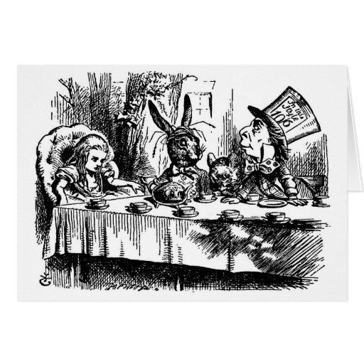 Fiesta del té enojada tarjeta de felicitación