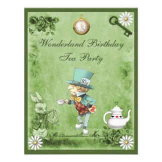 Fiesta del té enojada verde del cumpleaños del paí comunicados