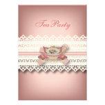 fiesta del té floral de la taza de té del rosa del