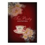 fiesta del té floral del boda del peony del invitación