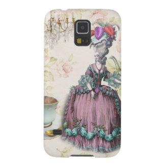 Fiesta del té floral femenina de Marie Antonieta Carcasas Para Galaxy S5