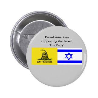 Fiesta del té israelí pin redondo de 2 pulgadas