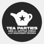 fiesta del té - las fiestas del té están para las pegatina redonda