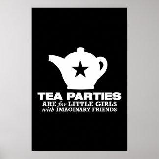 fiesta del té - las fiestas del té están para las  póster