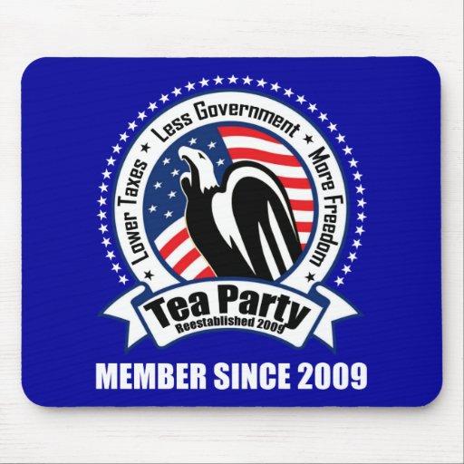 Fiesta del té - miembro desde 2009 tapetes de ratones