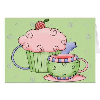 Fiesta del té - modificada para requisitos tarjeta de felicitación