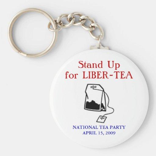 Fiesta del té nacional llaveros personalizados