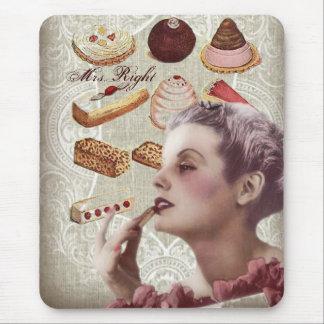 fiesta del té nupcial de la ducha de los pasteles mousepad