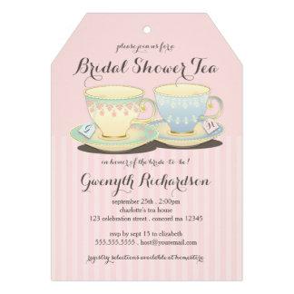 Fiesta del té nupcial de la ducha del dúo elegante
