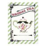 Fiesta del té nupcial de la ducha del Victorian bo Anuncios Personalizados