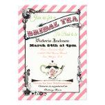 Fiesta del té nupcial de la ducha del Victorian bo Invitación Personalizada