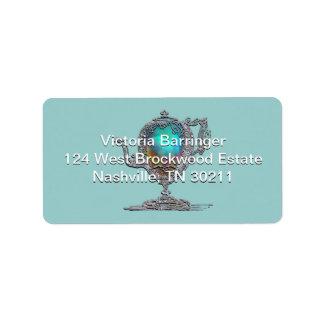 Fiesta del té nupcial de la ducha del Victorian Etiqueta De Dirección