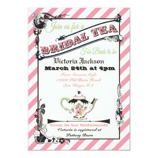Fiesta del té nupcial de la ducha del Victorian Invitación 12,7 X 17,8 Cm