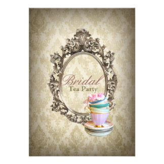 fiesta del té nupcial del damasco inglés del país  comunicados
