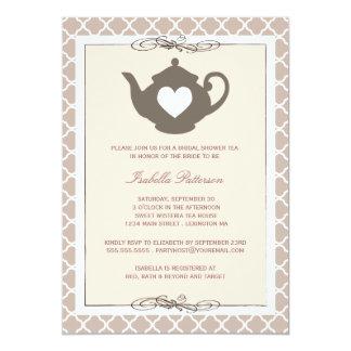 """Fiesta del té nupcial elegante de la ducha de la invitación 5"""" x 7"""""""