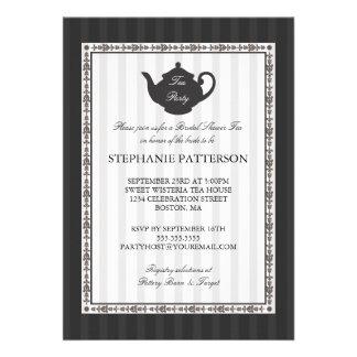 Fiesta del té nupcial elegante de la ducha de la r comunicados