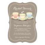 Fiesta del té nupcial elegante de la ducha del invitacion personalizada