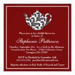 Fiesta del té nupcial elegante de la ducha del anuncios personalizados