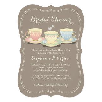 Fiesta del té nupcial elegante de la ducha del trí
