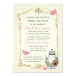 Fiesta del té nupcial francesa del vintage rosado invitación personalizada