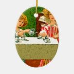 fiesta del té ornamento para arbol de navidad