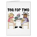 Fiesta del té para dos felicitacion