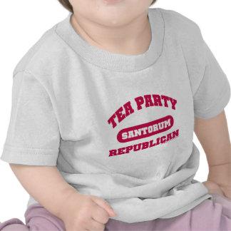 Fiesta del té para Santorum Camisetas