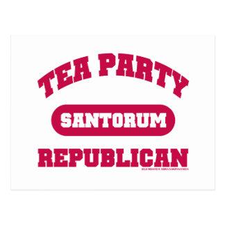 Fiesta del té para Santorum Postales