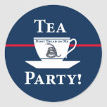 ¡Fiesta del té! Pegatina Redonda
