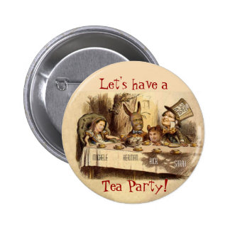 Fiesta del té pin redondo 5 cm