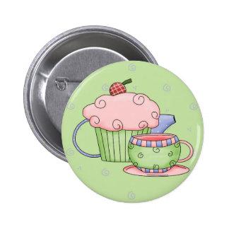 Fiesta del té pin redondo de 2 pulgadas