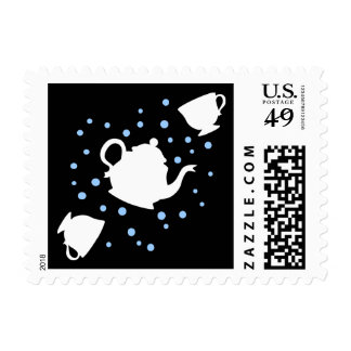 Fiesta del té que cae sello postal