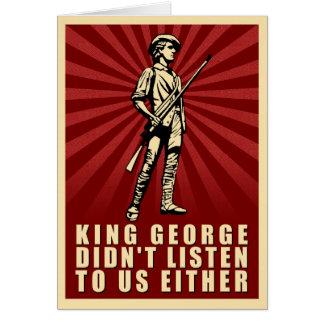 Fiesta del té - rey George no escuchó tampoco Tarjeta De Felicitación
