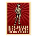 Fiesta del té - rey George no escuchó tampoco Tarjeta Postal
