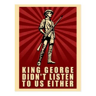 Fiesta del té - rey George no escuchó tampoco Tarjetas Postales