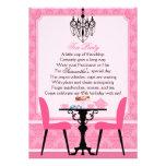 Fiesta del té rosada elegante del cumpleaños del d invitacion personalizada
