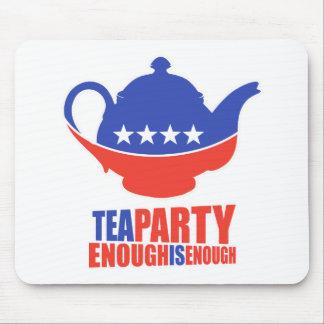 Fiesta del té mouse pads