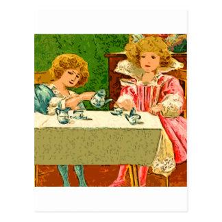 fiesta del té tarjetas postales