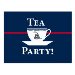 ¡Fiesta del té! Tarjetas Postales