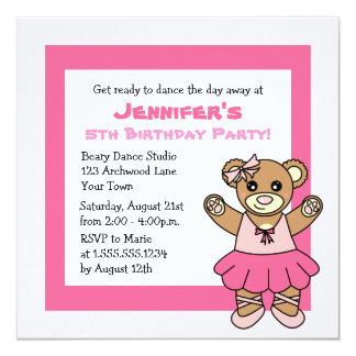 Fiesta del tema del oso de peluche de CuteBallet Comunicados Personalizados