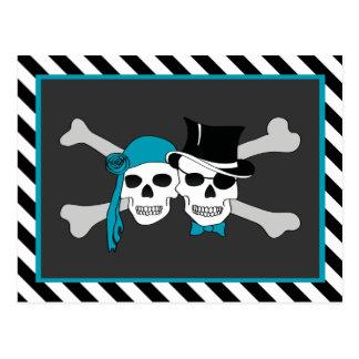 fiesta del tema del pirata tarjetas postales