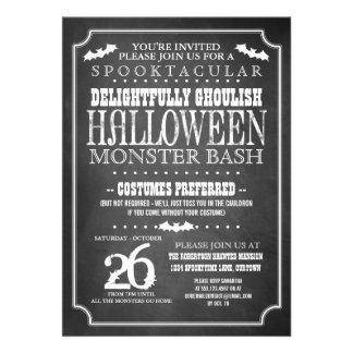 Fiesta del traje de Halloween de la pizarra Invitaciones Personalizada