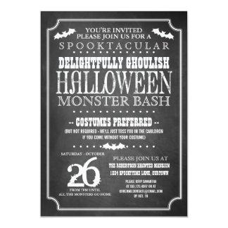 """Fiesta del traje de Halloween de la pizarra Invitación 5"""" X 7"""""""